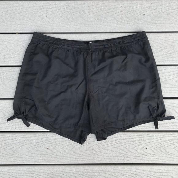 Madewell Pants - Madewell Side Tie Shorts XXL Black High Waist